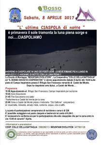 Ciaspolata notturna 8 APRILE